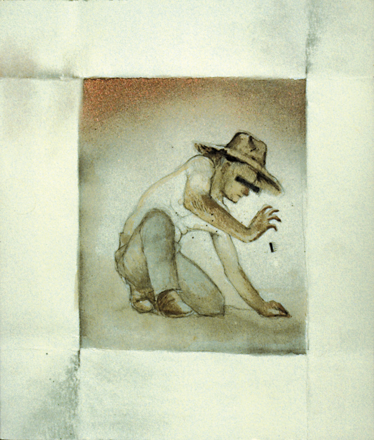 Mixed Media on Paper, Laborer, Watercolor