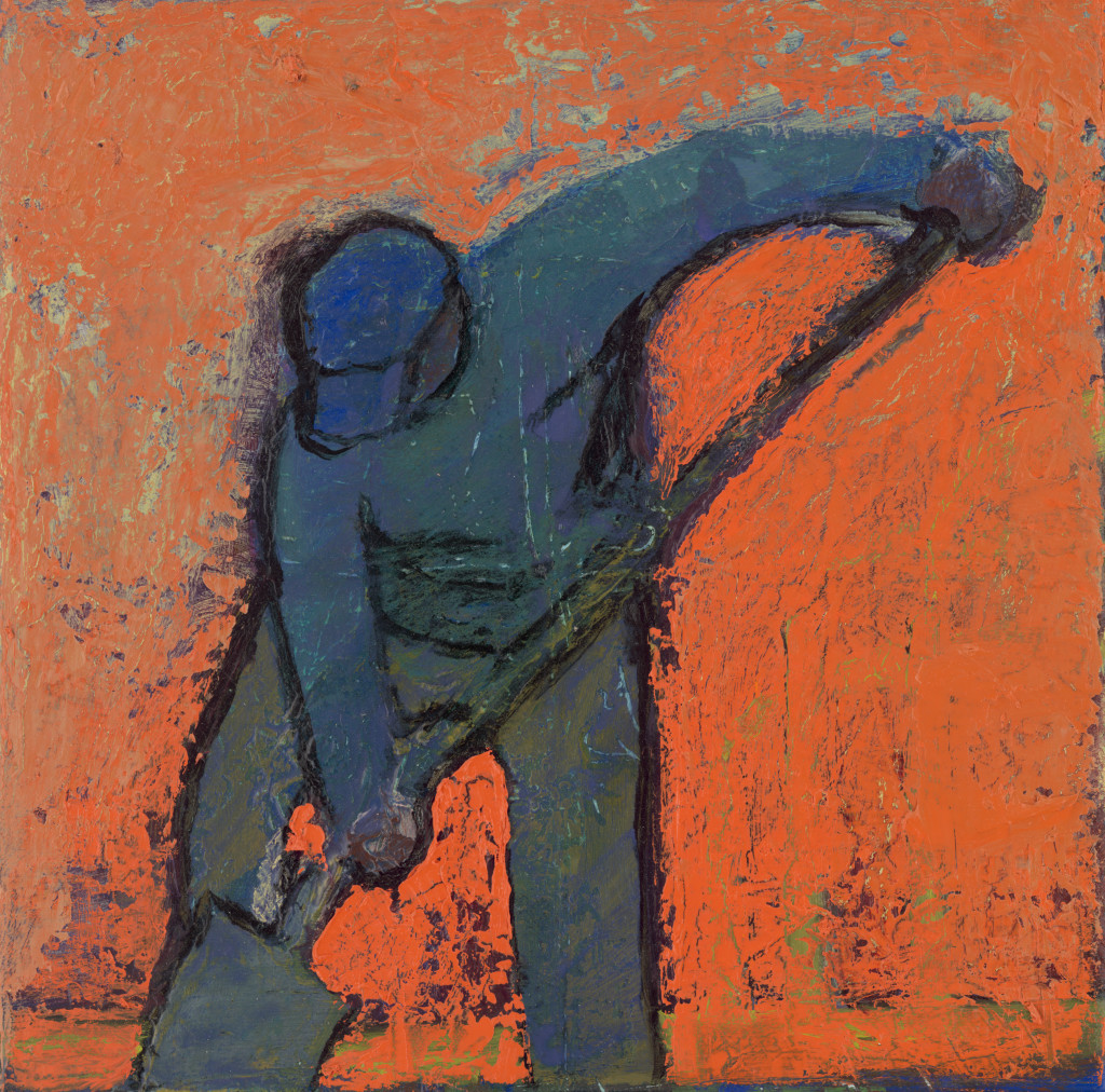 Lone Worker - Orange Sky Del Nero Artwork, LLC