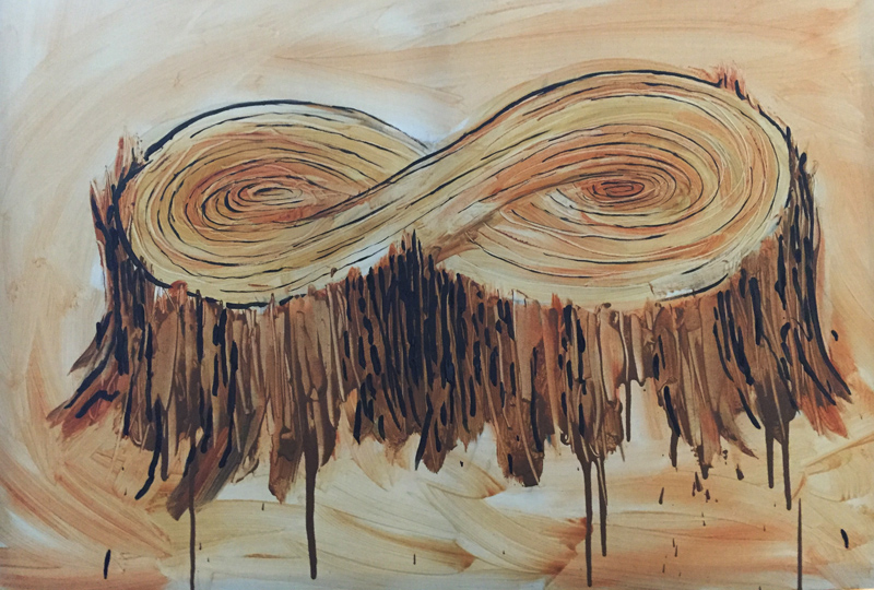 """InfiniteUse"" acrylic on canvas, 48x36in. Jeff Del Nero 2016"